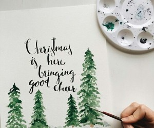 christmas, art, and winter image