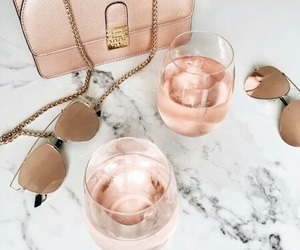 drink, pink, and sunglasses image