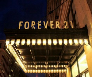 forever 21, light, and store image