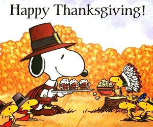 thanksgiving, snoopy, and happy thanksgiving image