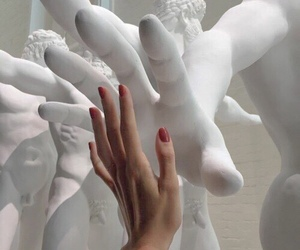 art, hands, and white image