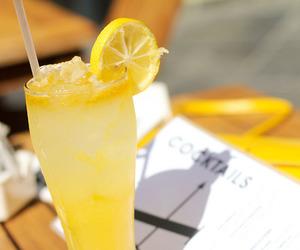 drink, lemon, and yellow image