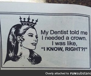 crown, funny, and Queen image