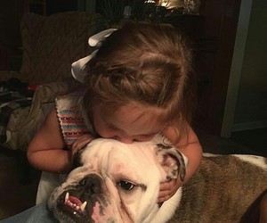 dog, babies, and children image