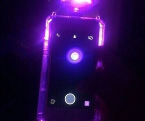 purple, neon, and dark image