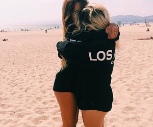beach, friends, and friendship image
