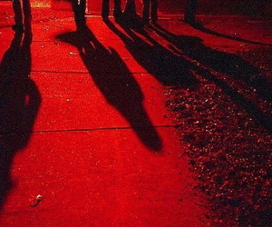 red, aesthetic, and shadow image