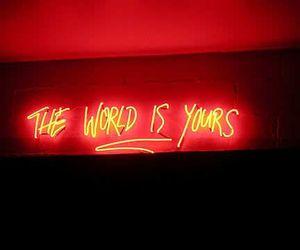 world, neon, and light image