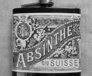 absinthe, alcohol, and black and white image