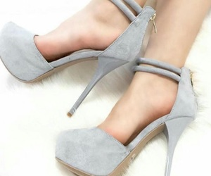 fashion, grey, and shoes image