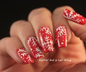 girl, black, and nails image