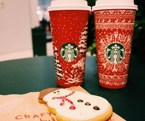 christmas, starbucks, and red cups image