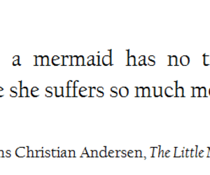 quote, mermaid, and tears image