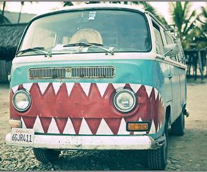 car, vans, and shark image