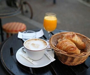 breakfast, coffe shop, and food image