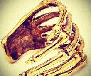 golden, hand, and ring image