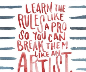 quotes, artist, and rules image
