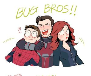 Marvel, spiderman, and black widow image