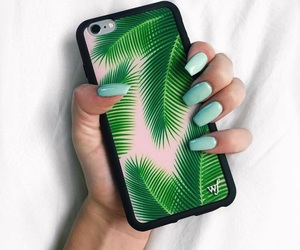 green, iphone, and wildflower cases image
