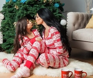 christmas and daughter image