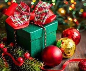 gift, green, and happy new year image