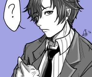mystic messenger, cat, and jumin image