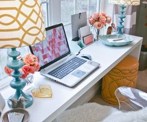 room, home, and desk image