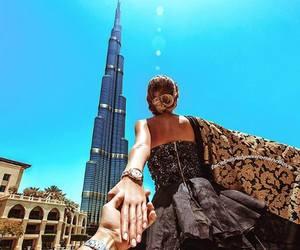 Dubai, travel, and couple image