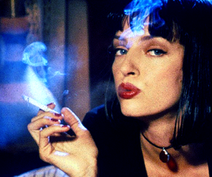 pulp fiction, 90s, and cigarette image