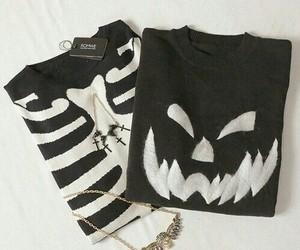black, fashion, and collar image