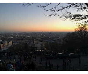 montmartre, sunset, and paris image