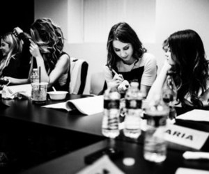 lucy hale, ashley benson, and troian bellisario image