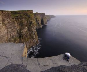 cliffs of moher, ireland, and ocean image