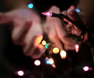 light, hands, and christmas image