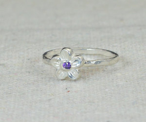 amethyst, forget me not, and forgetmenot image