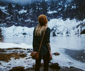 fashion, mountains, and winter image