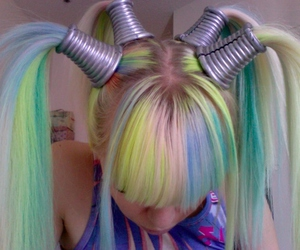 hair, kerli, and colorful image