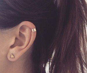 brown, ear, and piercing image