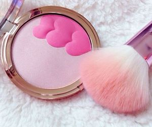 pink, Brushes, and beauty image