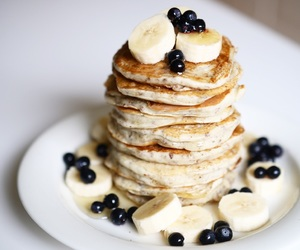 berries, fruit, and pancakes image