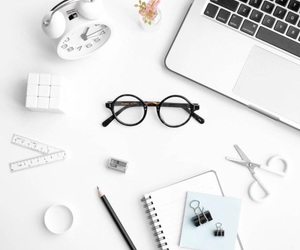aesthetic, glasses, and white image