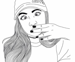 outline and grunge image