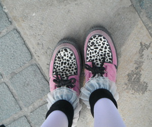 creepers, girl, and shoes image