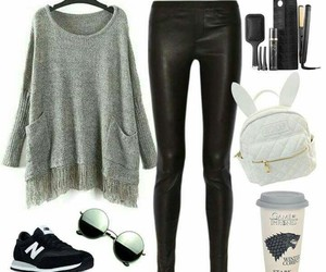 casual, gris, and outfit image
