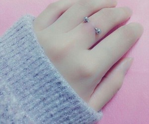 piercing and hand image