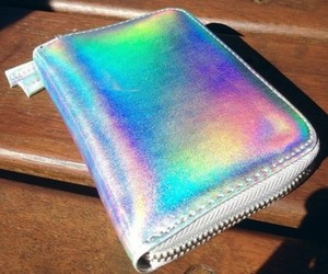 holographic, wallet, and bag image