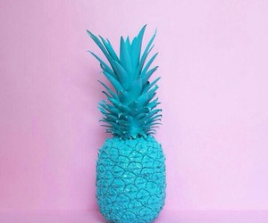 blue, pink, and pineapple image