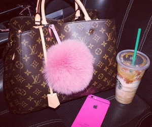 Louis Vuitton, pink, and luxury image
