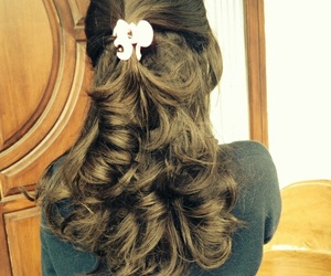 curly hair, hair, and hair inspiration image