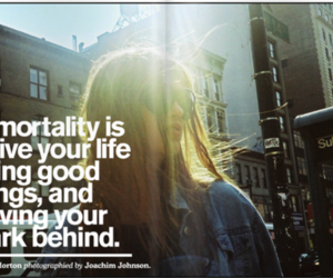 quote, Immortality, and typography image